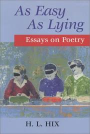 Cover of: As easy as lying