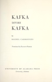 Cover of: Kafka contre Kafka