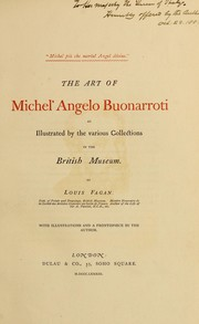 Cover of: The art of Michel' Angelo Buonarroti