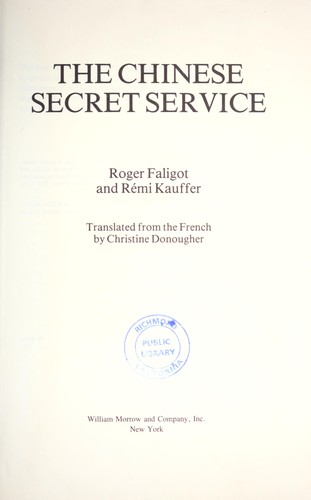 The Chinese secret service by Roger Faligot