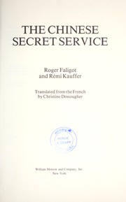 Cover of: The Chinese secret service | Roger Faligot