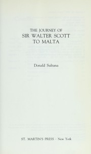 Cover of: The journey of Sir Walter Scott to Malta | Donald Sultana