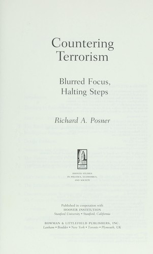 Countering terrorism by Richard A. Posner
