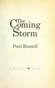 Cover of: The coming storm