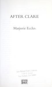 Cover of: After Clare | Marjorie Eccles