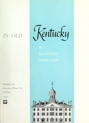 Cover of: Architecture in old Kentucky