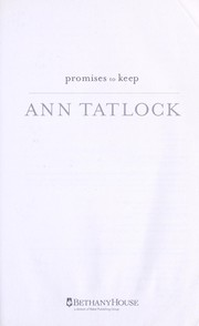 Cover of: Promises to keep | Ann Tatlock