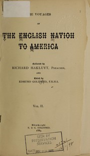 Cover of: The voyages of the English nation to America, before the year 1600