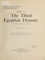 Cover of: Tombs of the Third Egyptian Dynasty at Reqâqnah and Bêt Khallâf