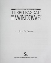 Cover of: Programmer's introduction to Turbo Pascal for Windows