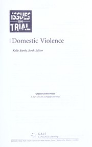 Cover of: Domestic violence |