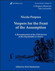 Cover of: Vespers for the Feast of the Assumption