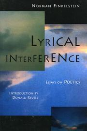 Cover of: Lyrical interference | Norman Finkelstein