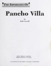 Cover of: Pancho Villa