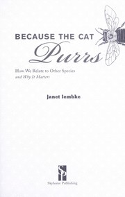 Cover of: Because the cat purrs