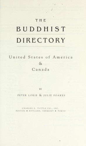 The Buddhist directory : United States of America & Canada by