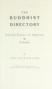 Cover of: The Buddhist directory : United States of America & Canada |