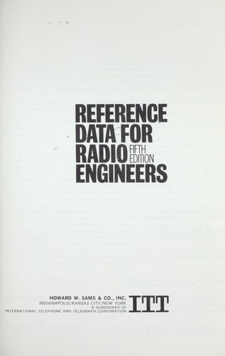 Reference Data For Radio Engineers by
