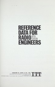 Cover of: Reference Data For Radio Engineers by
