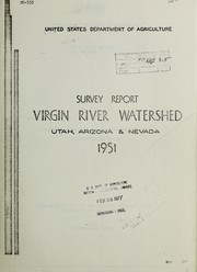 Cover of: Virgin River Watershed, Utah, Arizona, and Nevada | United States. Department of Agriculture