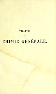 Cover of: Trait©♭ de chimie g©♭n©♭rale