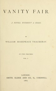 Cover of: Vanity fair | William Makepeace Thackeray