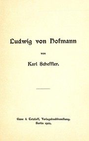 Cover of: Ludwig von Hoffmann