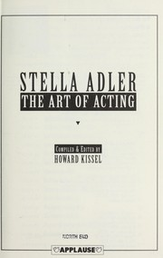 Cover of: The art of acting