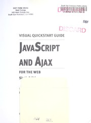 Cover of: JavaScript and Ajax for the Web
