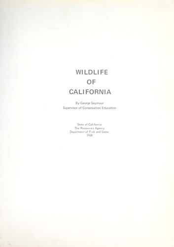 Wildlife of California by