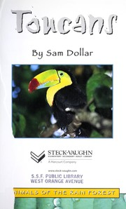 Cover of: Toucans Sb-Aotr (Animals of the Rainforest Sb)