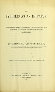 Cover of: On syphilis as an imitator
