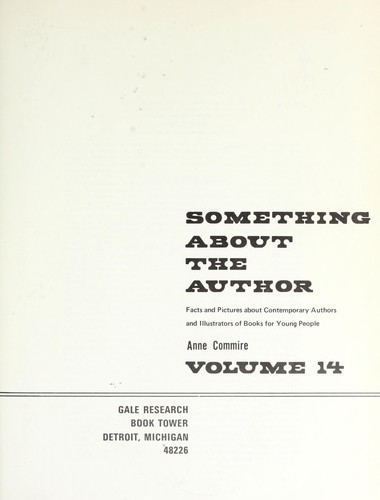 Something About the Author v. 14 by