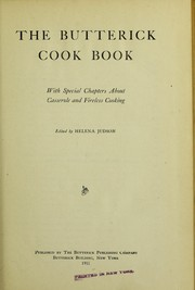 Cover of: The Butterick cook book