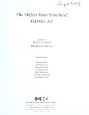 Cover of: The Object Data Standard |