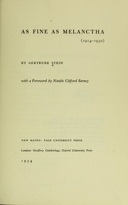 Cover of: The Yale edition of the unpublished writings of Gertrude Stein