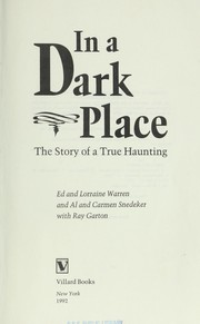 Cover of: In a dark place | Ed Warren