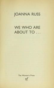 Cover of: We who are about to...