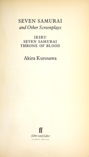 Cover of: Seven Samurai and other screenplays