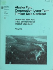 Alaska Pulp Corporation long-term timber sale contract by United States. Forest Service. Alaska Region
