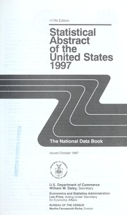 Cover of: Statistical Abstract of the United States: the national data book.