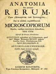 Cover of: Anatomia seu interiora rerum