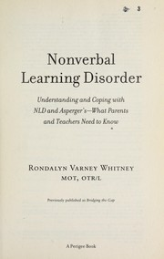 Cover of: Nonverbal Learning Disorder | Rondalyn V. Whitney