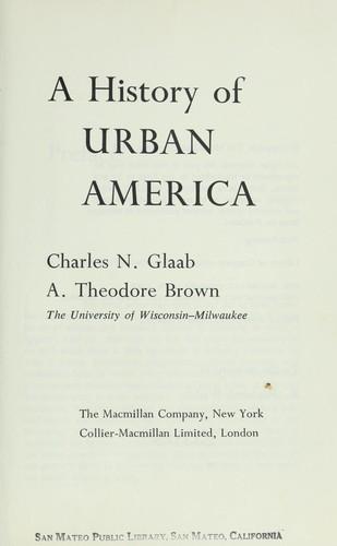 A history of urban America