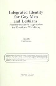 Cover of: Integrated identity for gay men and lesbians |