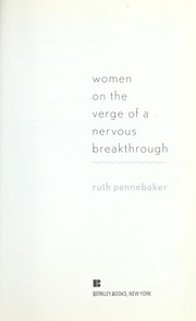 Cover of: Women on the verge of a nervous breakthrough