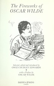 Cover of: The fireworks of Oscar Wilde