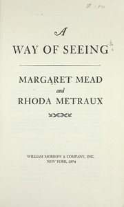 Cover of: A way of seeing