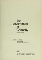 Cover of: The government of Germany