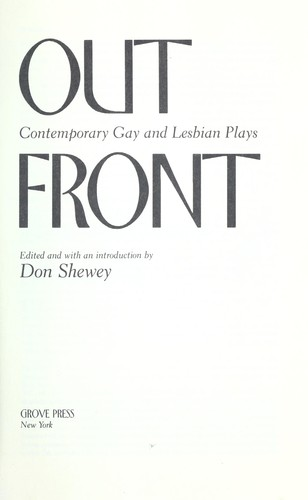 Contemporary front gay lesbian play